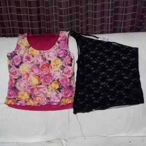 Tops - Teo cute fun tank tops ones homemade the other the